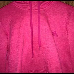 Pink adidas climawarm hoodie